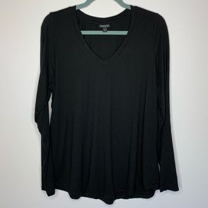 Torrid V-Neck Black Long Sleeve